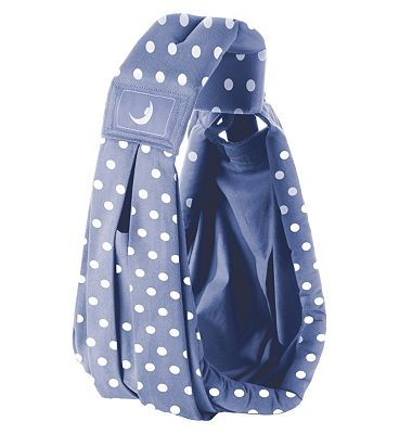 BabaSling Baby Carrier - Polka Blue